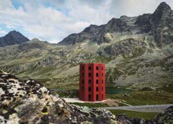 Hoch hinaus mit Invias: Origen-Turm auf dem Julierpass