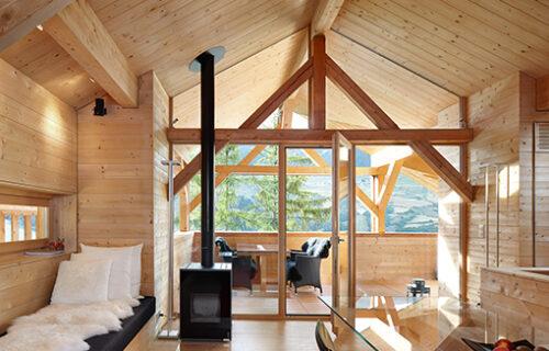 Holzbau: Ein Wohnzimmer aus Holz