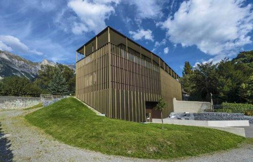 Erweiterungsbau Weingut Schloss Salenegg druch Invias