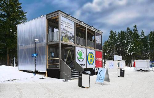 Holzbau von Invias am Spengler Cup 2017